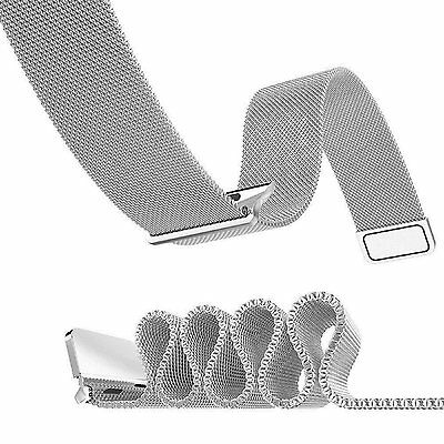OULUOQI Apple Watch Band Milanese Loop Strap Magnetic Closure 42mm SILVER STEEL