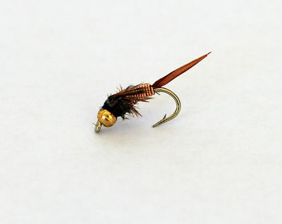 12 x NYMPH Copper John TROUT FLIES for fishing rods, Reels & Lines