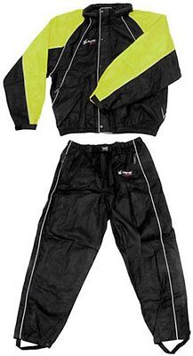 Frogg Toggs Mens Hogg Togg Full Cut 2 Piece Rainsuit X-Large Black Lime
