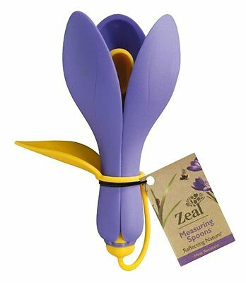 Zeal Reflecting Nature CROCUS Flower MEASURING SPOONS Silicone PURPLE