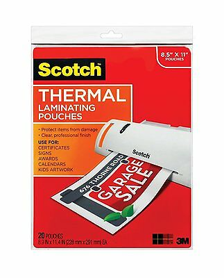 Thermal Laminating Pouches 8.5 X 11 20 Pouches Tp3854-20
