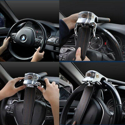 Car Top Mount Steering Wheel Security Airbag Lock Key Anti-Theft Safety Devices
