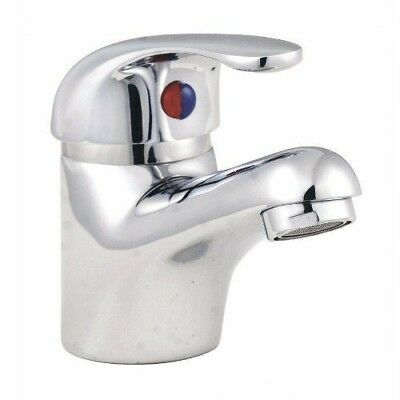 Mono Chrome Single Lever Basin Sink Bathroom Mixer Tap & Click Clack Waste