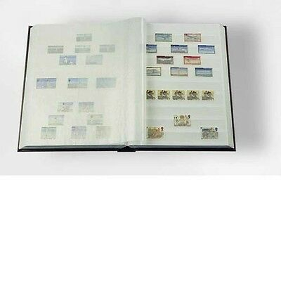 LIGHTHOUSE 339116 Stockbook DIN A5, 16 white pages, non-padded cover, red
