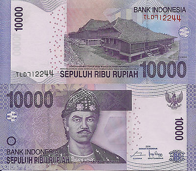 INDONESIA 10000 Rupiah Banknote World Paper Money UNC Currency Bill p150f Note