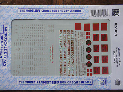 Microscale Decal HO #87-1019 Canadian National - CN -- Steam Loco's, 1931-1960