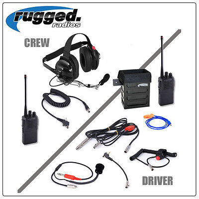 NASCAR Communications Rugged Radios Racing System w / VX230 Driver to Spotter
