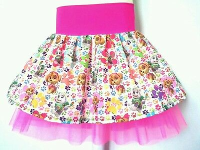 Paw Patrol Everest & Skye Pink Rainbow costume tutu party skirt. Age 1 2 3 4 5 6