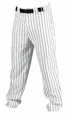 Rawlings Youth Relaxed Fit YBP95MR Pinstriped Baseball Pant, White with Black