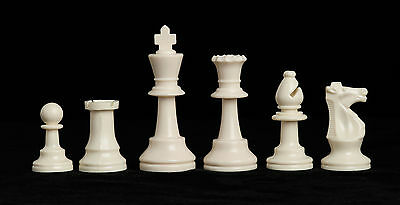"""Triple Weighted Regulation Plastic Chess Set - 3.75"""" King"""