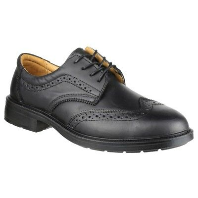 Mens Amblers Brogue Safety Shoes Steel Toe. Lace-Ups
