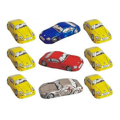 25 Milk Chocolate Sports Cars - Kids Birthday Theme Parties Table Decorations