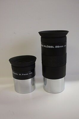"Meade DS 9.7MM & 26MM Series 4000 1.25"" Super Plossl Telescope Eyepiece Kit NEW!"