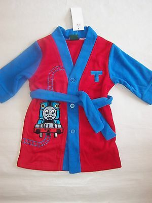 Bnwt Thomas The Tank Engine Fleece Dressing Gown Sleepwear Size 1 To 5