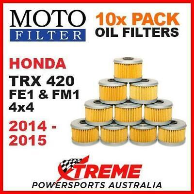10 PACK MX MOTO FILTER OIL FILTERS HONDA TRX420FE1 TRX420FM1 4x4 2014-2015 ATV