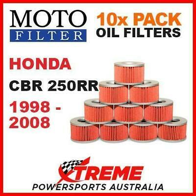 10 Pack Mx Moto Filter Oil Filters Honda Cbr250Rr Cbr 250Rr 1998-2008 Sport Bike