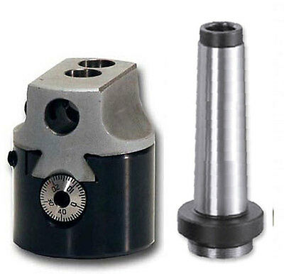 """Boring Head 2"""" + Mt2 Shank For Milling Machines"""