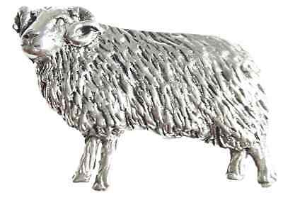 Sheep / Ram Finely Handcrafted in Solid Pewter In UK Lapel Pin Badge