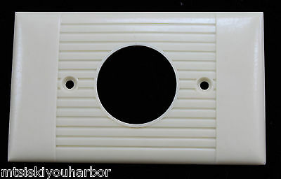 Vtg Sierra Bakelite Wall Outlet  Hole Plate Cover Ivory Ribbed Wall Switch Art