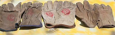 Union Pacific Leather Gloves - Lot of 3