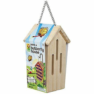 Toysmith Paint-A-Butterfly House Yard Garden Outdoor Living New Gift