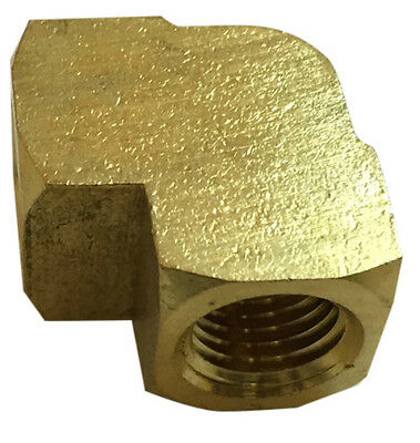 Brass 90° Pipe Elbow, Pipe Thread Fitting.  (Barstock)