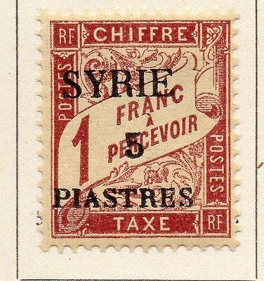 Syria 1924 Postage Due Fine Mint Hinged 5p. Optd Surcharged 052145