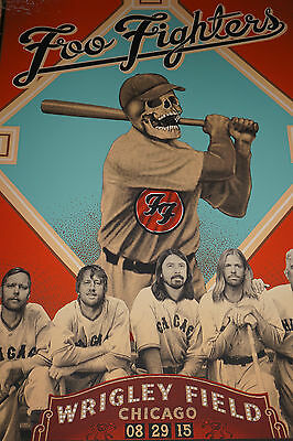 Foo Fighters - 2015 Emek poster print Wrigley Field Chicago, IL