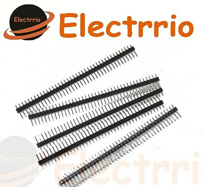 EL2239 5 x Tira 40 Pines Macho Conector Pin 2,54 mm Pins PCB Arduino Electronica