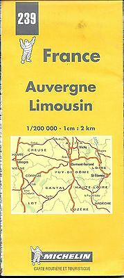 Michelin Map of Auvergne, Limousin, France, Michelin Map #239