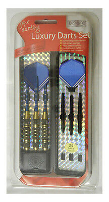 Darts & Flights In Carry Case by Boyz Toys 14 - 24 Gram Weighted Darts Freepost