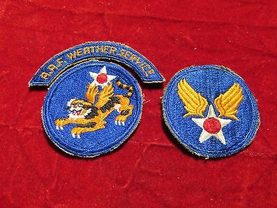 14th AAF Weather patch Group Flying Tigers Weather Service Tab arc + 2 patches