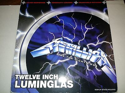 Metallica Luminglas Ride the Lightning 12inch Spencers exclusive 2003 Luminglass