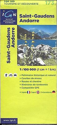 Map of Saint-Gaudens, Andorre, (Androrra) by IGN Map #173