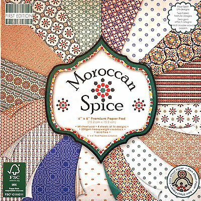 First Edition MOROCCAN SPICE - 6x6 Paper - Full Pad - 64 Sheets 200gsm