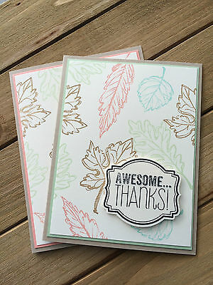 HELLOMIMICARDS - Handmade Greeting Cards - Leafy Thanks
