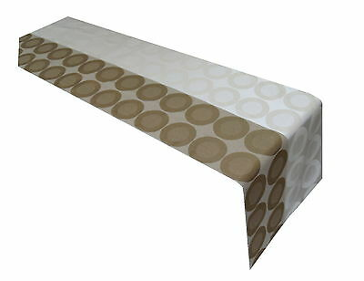 Coffee Light Brown & White Table, runner By Temptations of Stoke on Trent