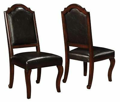 Bedford Mahogany Dining Side Chair with Upholstered Seat by Coaster - Set of 2
