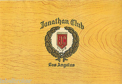 Cigar Box Label Vintage Inner Jonathan Club Los Angeles 1930S Embossed 2B