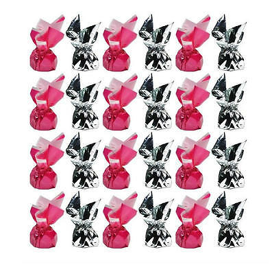 1 Kg Hot Pink And Silver Foil Dark Chocolate Truffles - Wedding Favours Parties