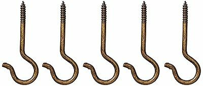 Ceiling Hook Antique Brass Pack Of 5 86205
