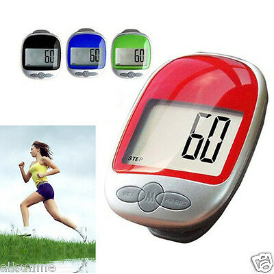 Portable Waterproof LCD Run Step Pedometer Mini Walking distance Calorie Counter