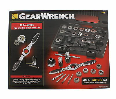 GearWrench 3886 40-Piece Metric Tap and Die Set