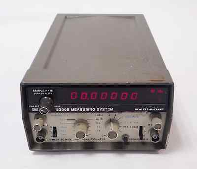 HP/AGILENT 5302A 50MHz UNIVERSAL COUNTER w/ 5300B MEASURING SYSTEM