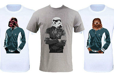 Star Wars 80's Retro - Darth Vader, Chewbacca & StormTrooper T-Shirt - All Sizes