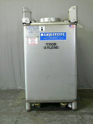 Hoover Liquitote 550 Gallon Stainless Steel Tank w/ Level Indicator & Valves