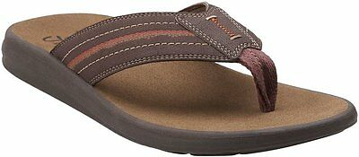 f389cde4a1d80 MEN'S CLARKS BEAYER Pace Flip Flop - Brown - LIMITED INV!!! - $26.99 ...