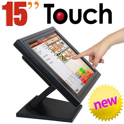 "IBM 4820-51G 15"" Touch Screen POS Point of Sale LCD Monitor Touchscreen Commerci"