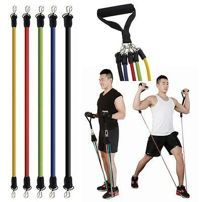 Elastic Fitness Resistance Bands Exercise Tubes Pull Rope Belt Workout Cordages