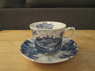 Staffordshire Ridgway Cup & Saucer Meadowsweet